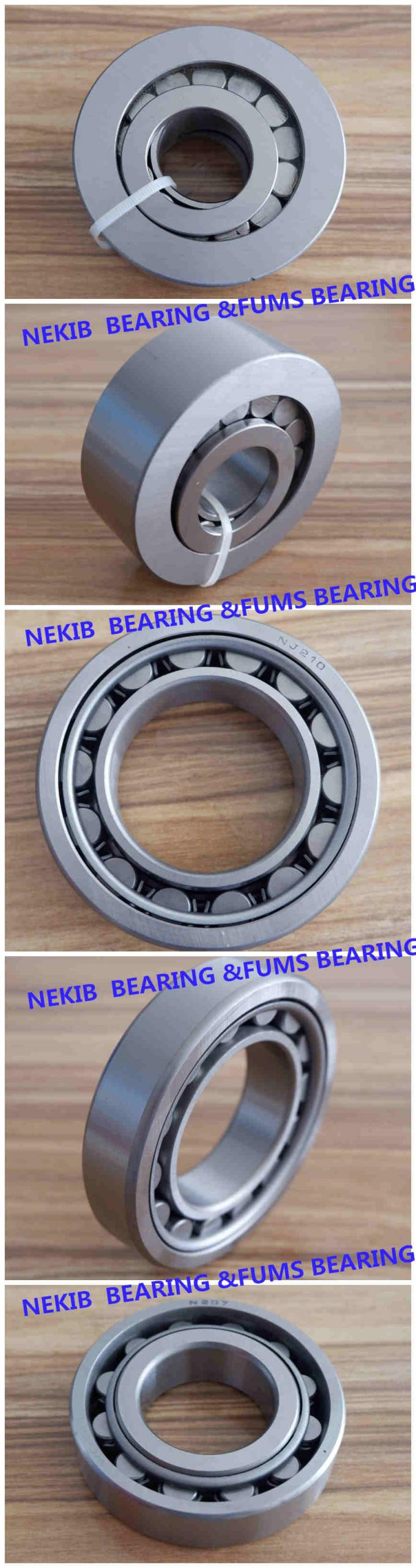 Low Noise Cylindrical Roller Bearing NJ 2207 Chrome Steel For Machinery 1