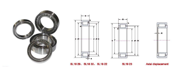 Low Noise Full Complement Cylindrical Roller Bearings High Strength Cage